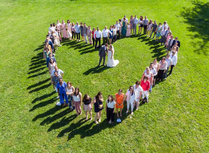 Photo prise par Drone mariage Michelle & David