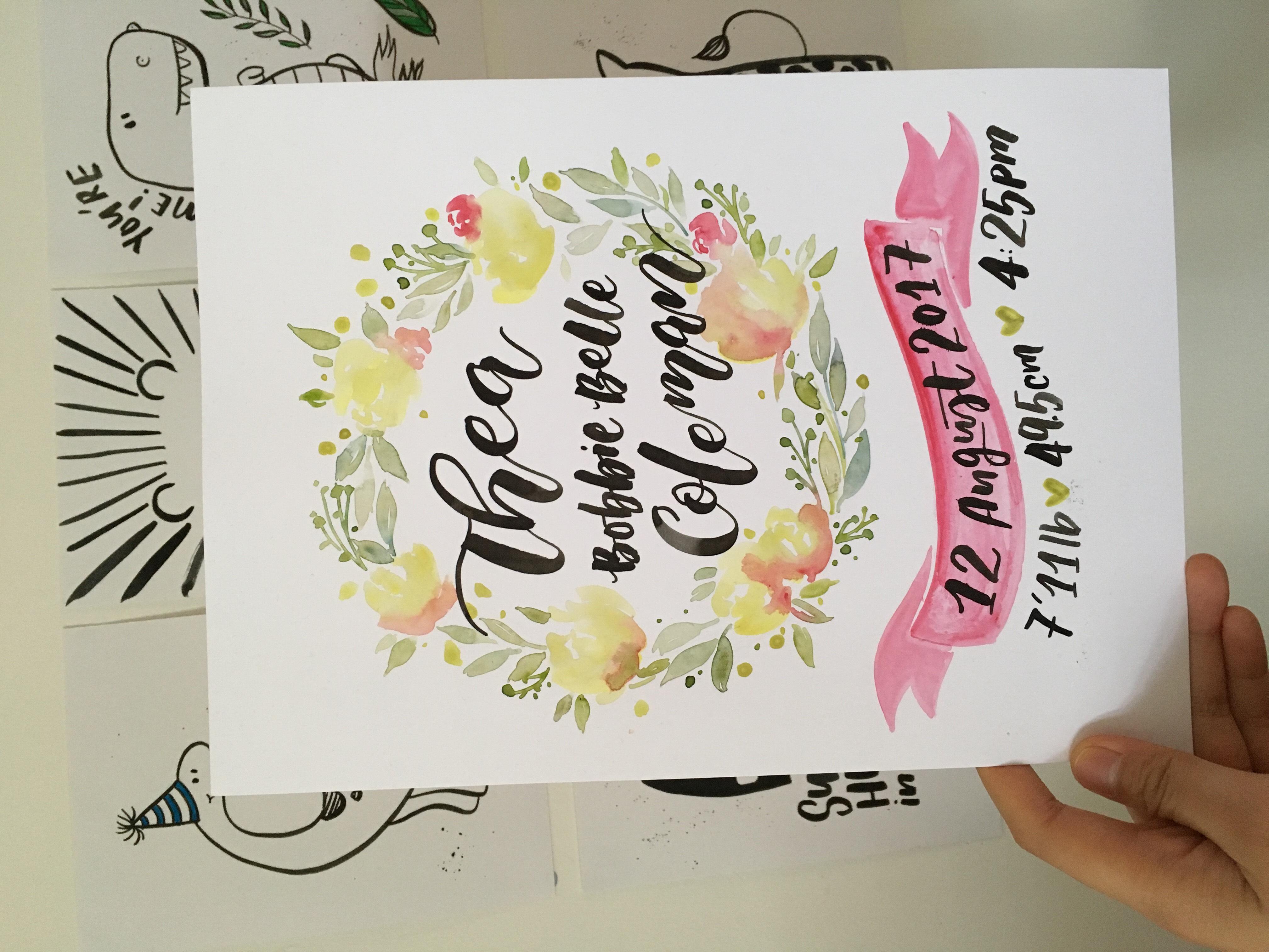 Nursery Print for baby Thea