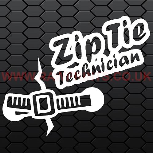 Zip Tie Technician Sticker