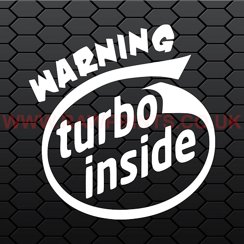 Warning Turbo Inside Sticker