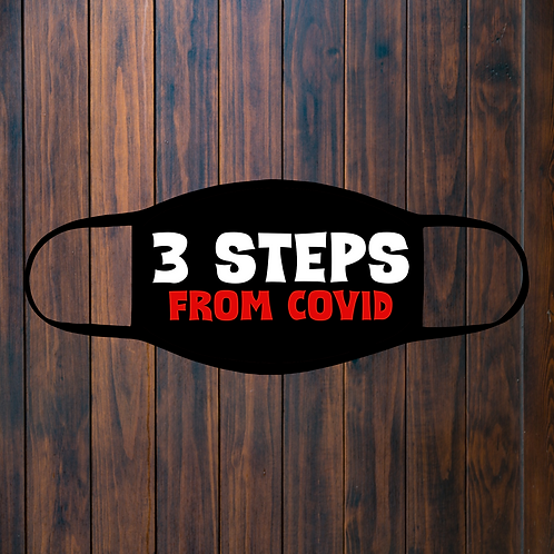 3 Steps From COVID Facemask