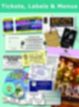 Tickets, Labels, Menus, Stickers