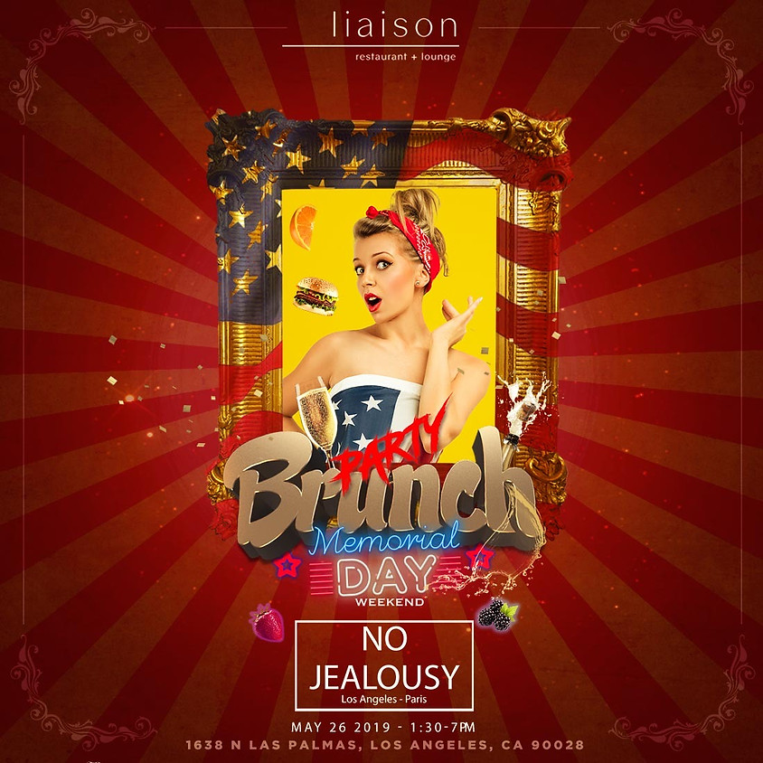 No Jealousy Sunday Party Brunch special Memorial Day Weekend
