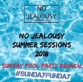 Dive Into the Summer with us!  No Jealousy Summer Sessions at _whollywoodhotel this Sunday May 27th from Noon to 6pm 💦👙_Book your day Bed or