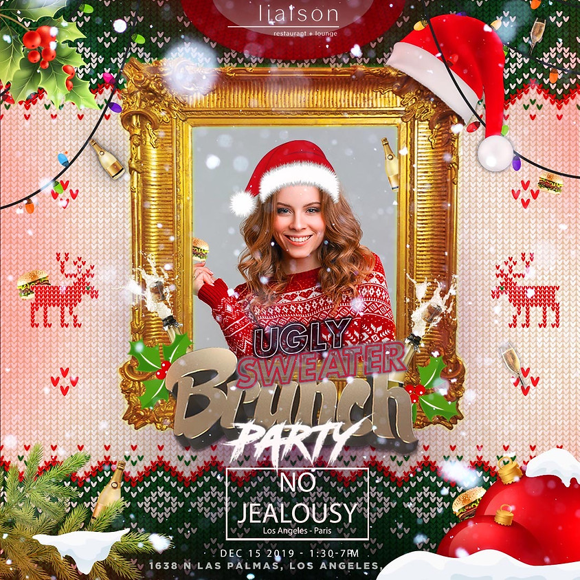 No Jealousy Sunday Party Brunch Special Ugly Christmas Sweater