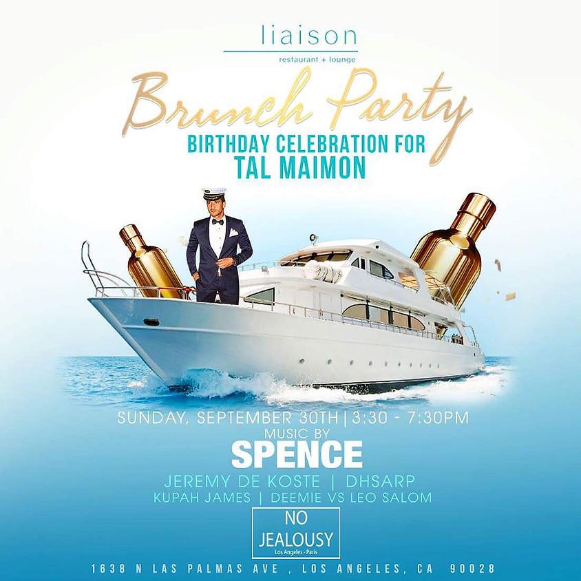 No Jealousy Sunday Pool Party Brunch  - Navy Themed