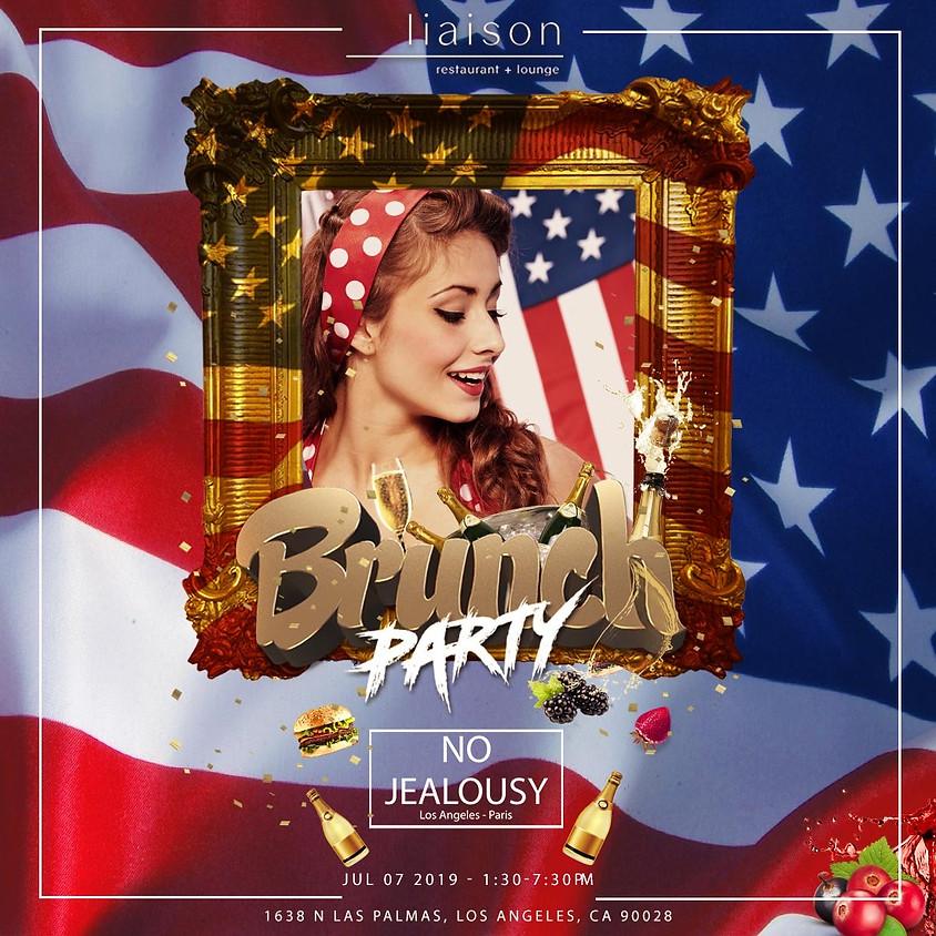 No Jealousy Sunday Party Brunch  - American Dream Themed