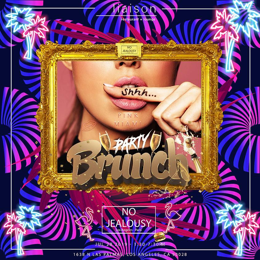 No Jealousy Sunday Party Brunch  - Pink Miami Themed