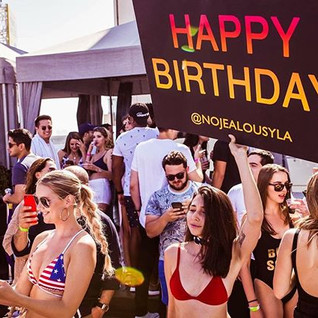 Celebrate your birthday with us! _No Jealousy Summer Sessions at _whollywoodhotel _this Sunday June 17th_from Noon to 6pm 💦👙_Book your day B