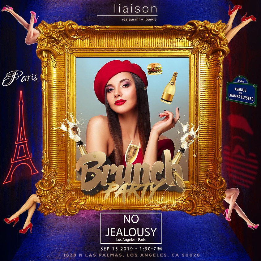 No Jealousy Sunday Party Brunch - Welcome to Paris Themed