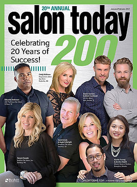 Salon Today Top 200 cover hair salon award