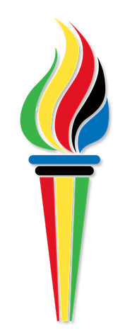 Olympic torch symbol with flag_clipped_r