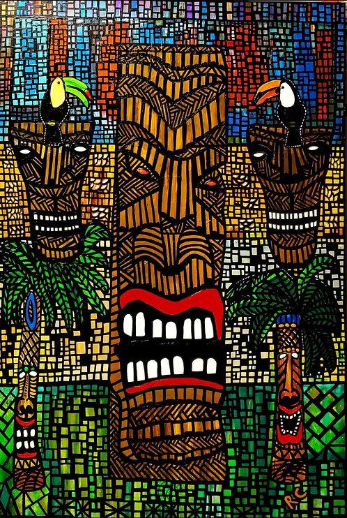 Tiki Tiki Toucans by Rene Cosby