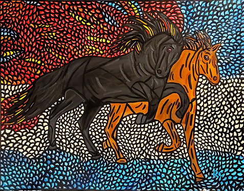 Each, Air, Fire, Water Horses by Rene Cosby