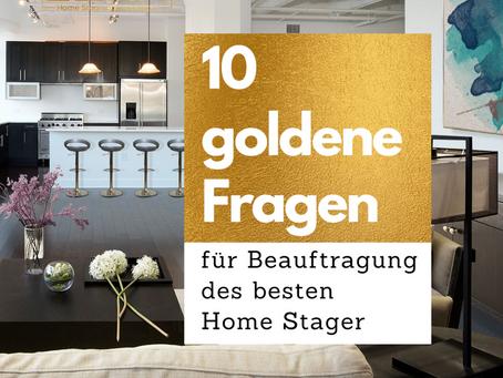 10 goldene Fragen für Beauftragung des besten Home Stager