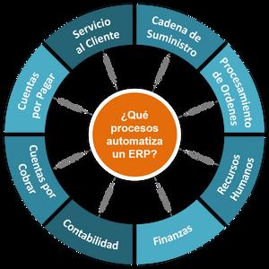 Cinco áreas funcionales que automatiza un ERP