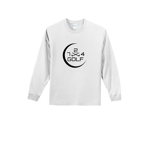 724 Golf Long Sleeve T - White