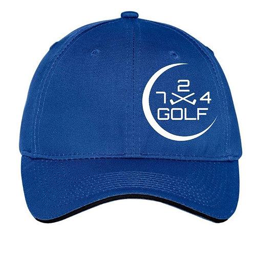 724 Golf 6-Panel Hat - Royal Blue