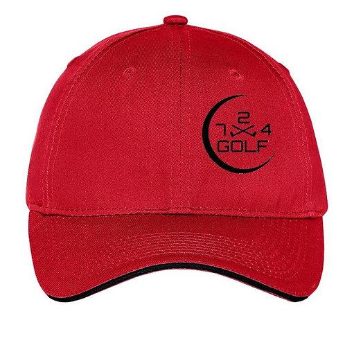 724 Golf 6-Panel Hat - Red
