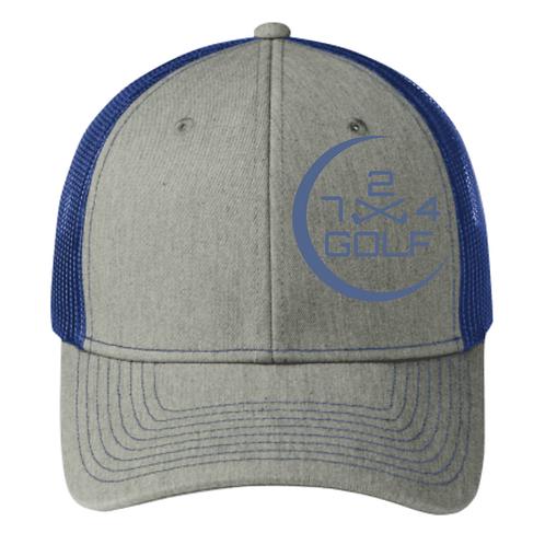 724 Golf Trucker Hat - Gray/Blue
