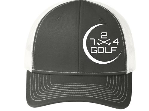 724 Golf Trucker Hat - Gray/White