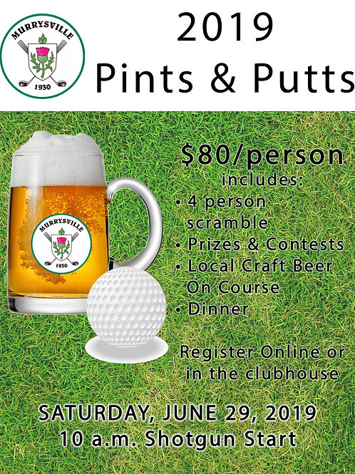 Pints & Putts - $80/player