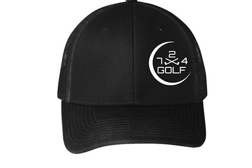 724 Golf Trucker Hat -Black/Gray