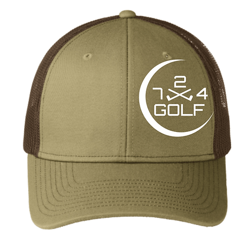 724 Golf Trucker Hat - Khaki/Coffee