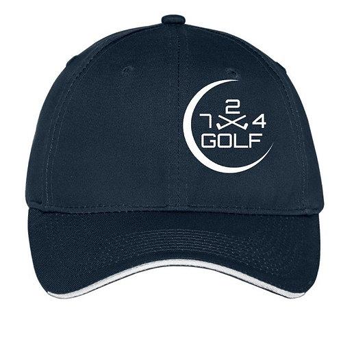 724 Golf 6-Panel Hat - Dark Blue