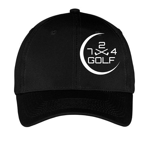 724 Golf 6-Panel Hat - Black