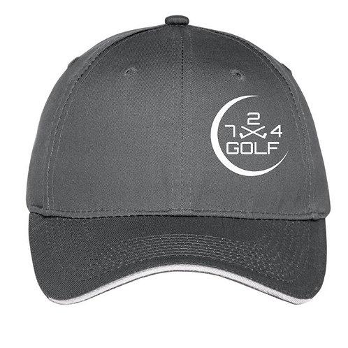 724 Golf 6-Panel Hat - Charcoal