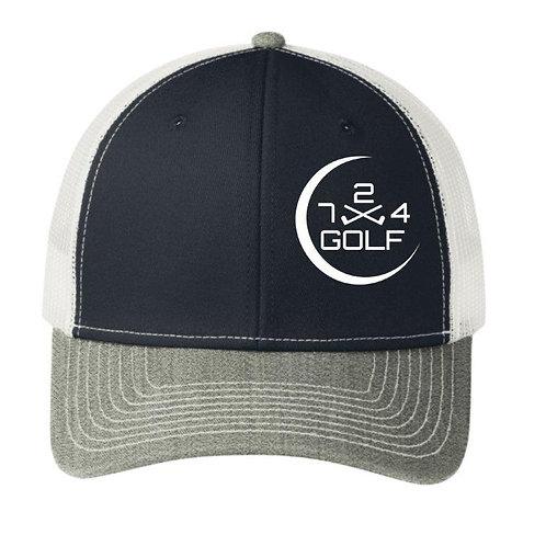 724 Golf Trucker Hat - Navy/White