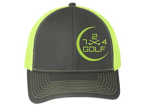 724 Golf Trucker Hat - Neon