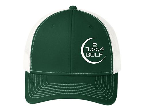 724 Golf Trucker Hat - Green/White