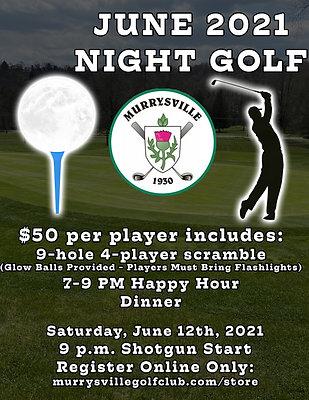 June Night Golf - $50