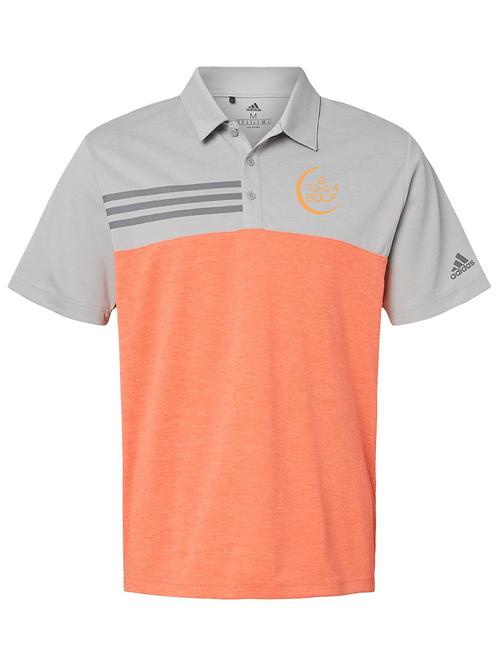 724 Golf Polo - Orange/Gray