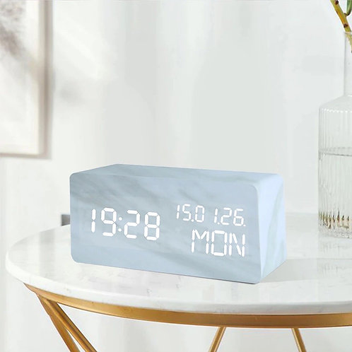 Ivory LED Clock
