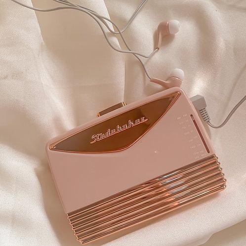 Rose Gold Cassette Player