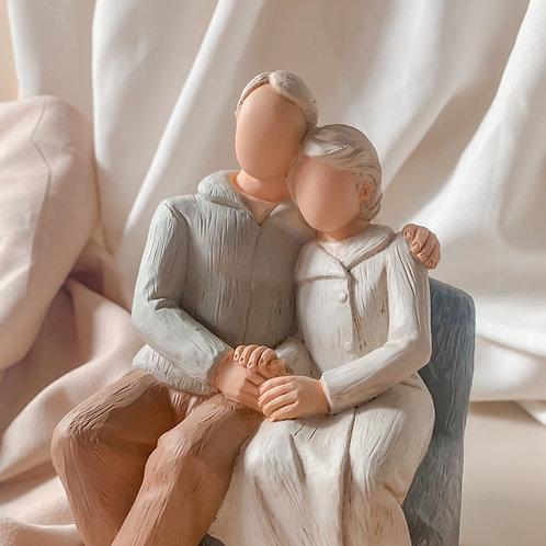 Grandparents Hand-sculpted Figurine
