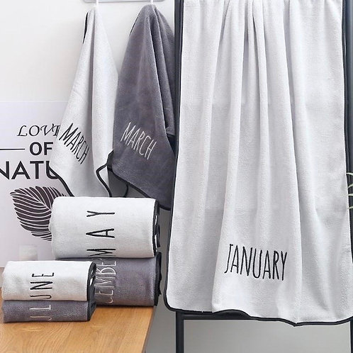 Birth Month Bath Towel