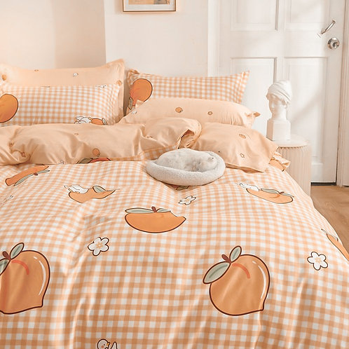 Peach French Linen Set