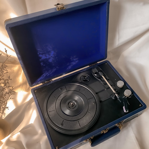 Navy Leather Turntable