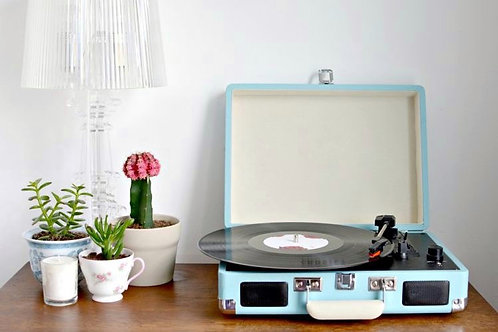 Tiffany Blue Vinyl Turntable