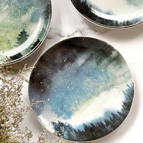 Night Sky Ceramic Plates