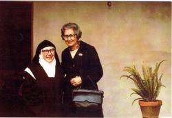 Com a prima Maria Eugénia