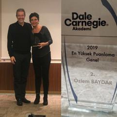 Dale Carnegie Eğitmenliği 2019 2.lik Ödülü