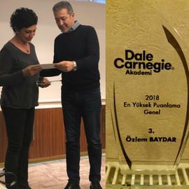 Dale Carnegie Eğitmenliği 2018 3.lük Ödülü