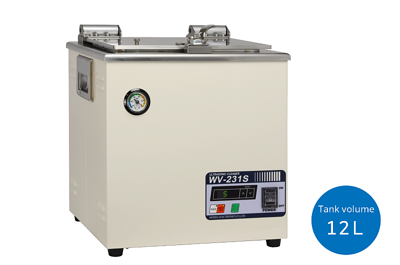 Ultrasonic cleaner with decompression chamber