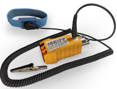Ohm-Stat™ Earth Ground Checker with Jack to Ground Wrist Strap