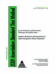 ANSI ESD STM11.11: Surface Resistance Measurement of Static Dissipative Planar M